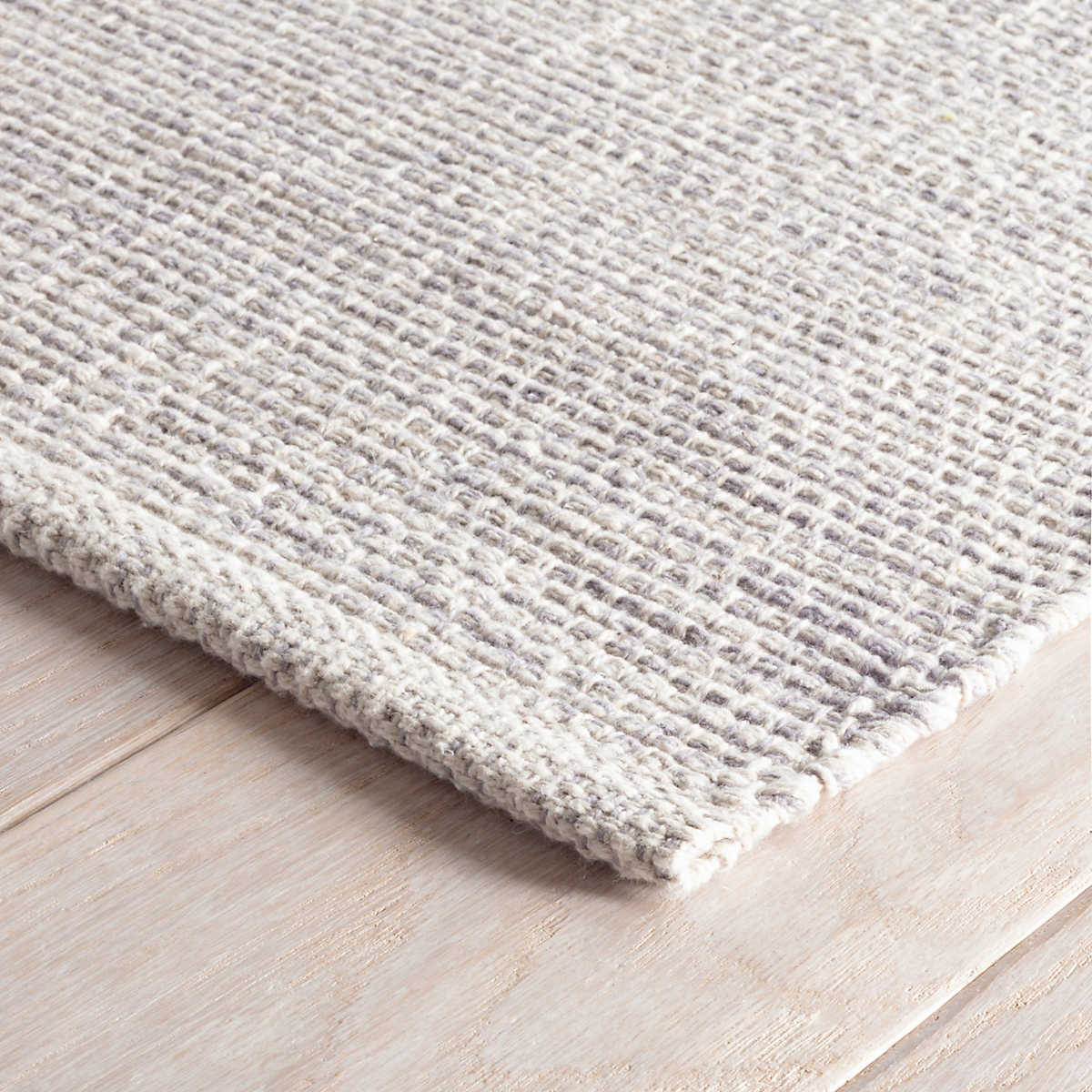 Marled Grey Woven Cotton Rug Dash Albert