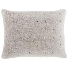 Marshmallow Fleece Grey Puff Decorative Pillow