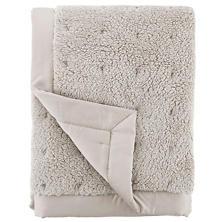 Marshmallow Fleece Grey Puff Throw