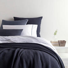 Bubble Blue Matelassé Coverlet