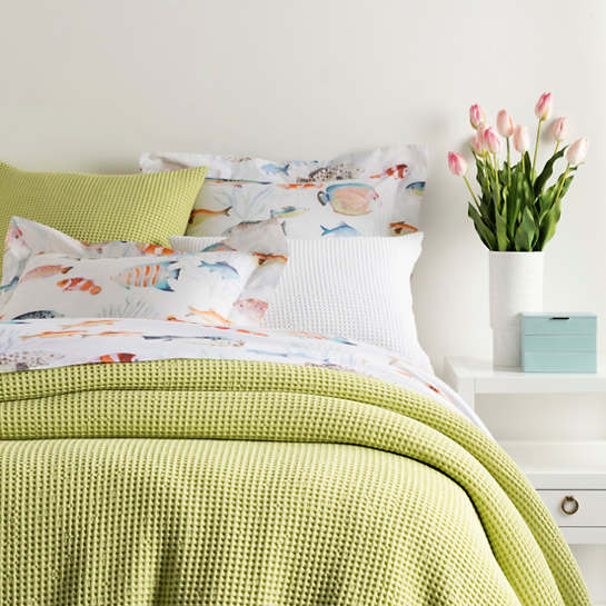 Bubble Citrus Matelassé Coverlet