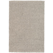Matrix Grey Wool Tufted Rug