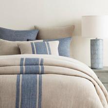 Maxwell Linen Blue Duvet Cover