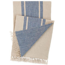 Maxwell Linen Blue Throw