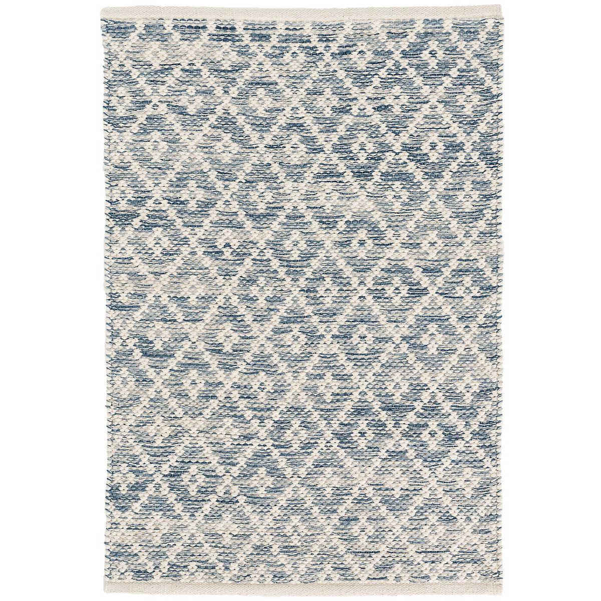 Melange Diamond Blue Woven Cotton Rug Dash Amp Albert