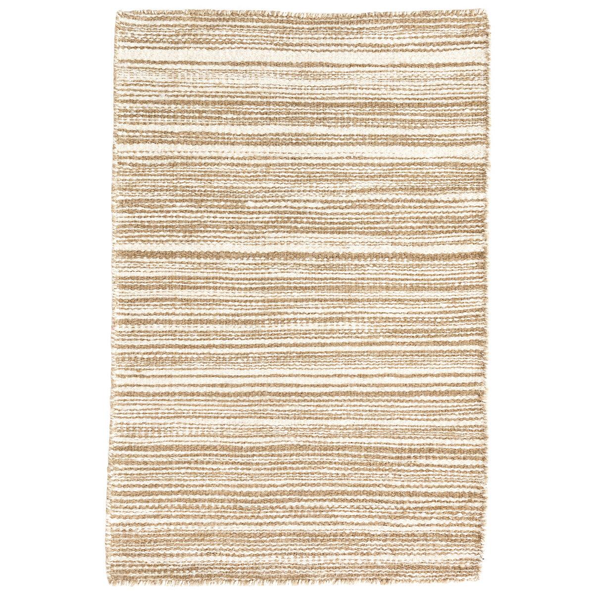 Melange Natural Linen Woven Rug   Dash & Albert