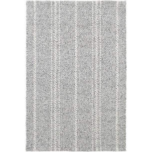 Melange Stripe Grey Ivory Indoor Outdoor Rug
