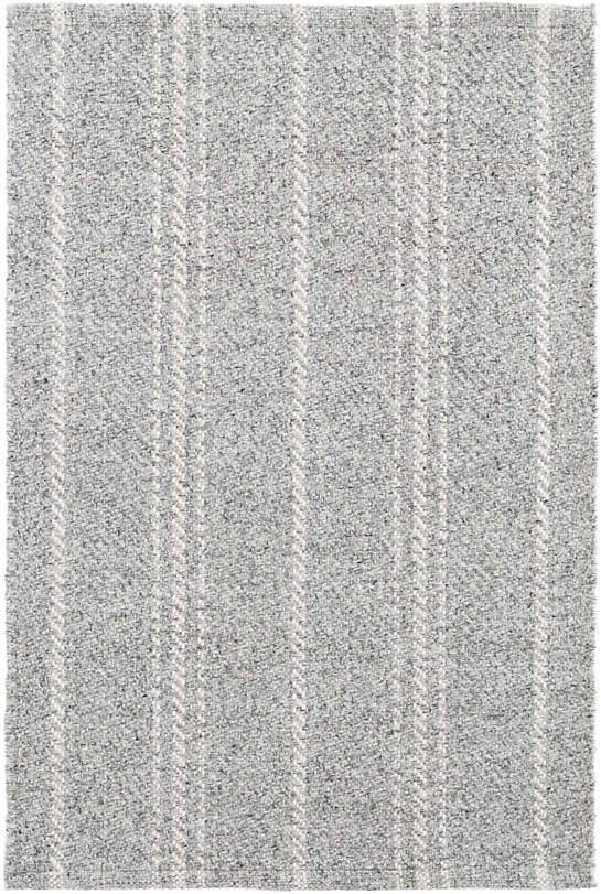 Melange Stripe Grey Ivory Indoor Outdoor Rug Dash Amp Albert