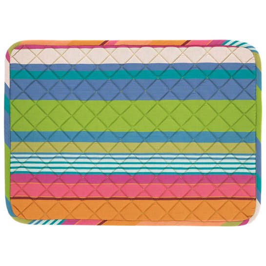 Mellie Stripe Quilted Placemat