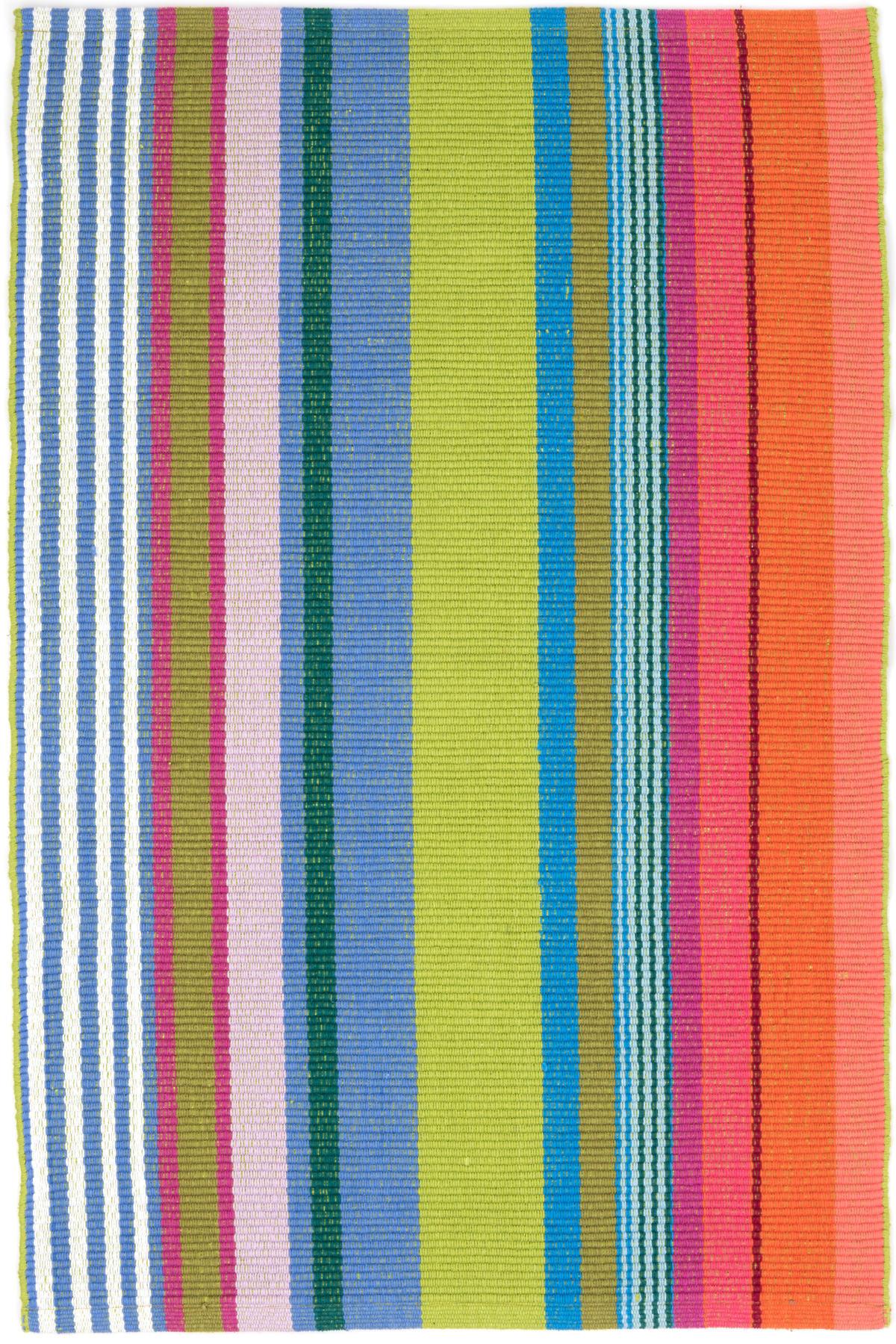 Mellie Stripe Woven Cotton Rug