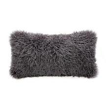 Mica Longwool Curly Sheepskin Decorative Pillow