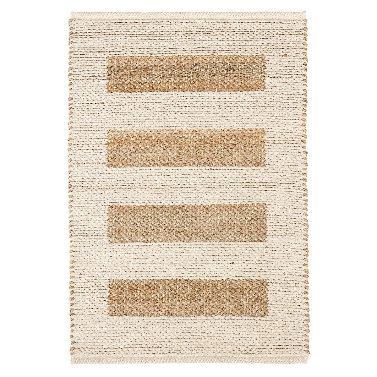 Milo ivory woven jute cotton rug dash albert for Dash and albert blankets
