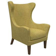 Canvasuede Citrus Mirage Smoke Chair