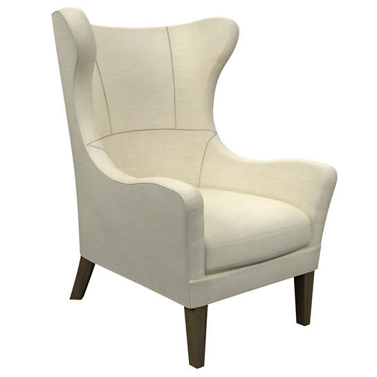 Estate Linen Ivory Mirage Smoke Chair