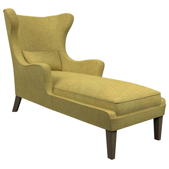 Canvasuede Citrus Mirage Smoke Chaise