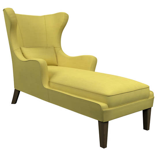 Estate Linen Citrus Mirage Smoke Chaise