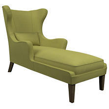 Estate Linen Green Mirage Smoke Chaise