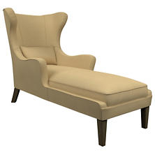 Estate Linen Wheat Mirage Smoke Chaise