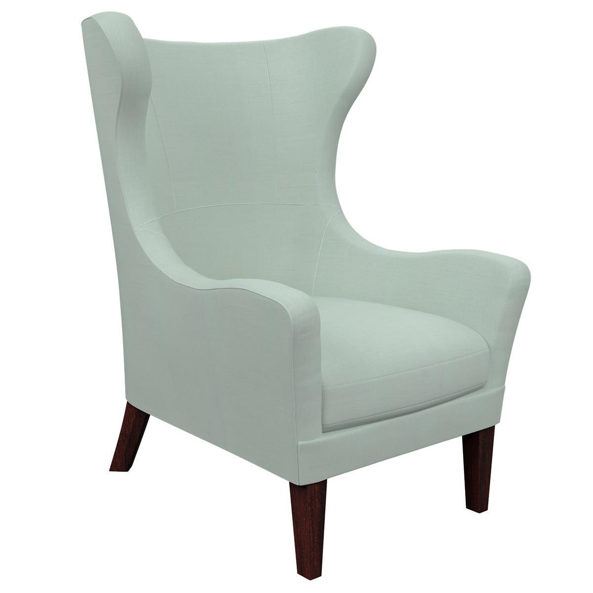 Estate Linen Powder Blue Mirage Tobacco Chair