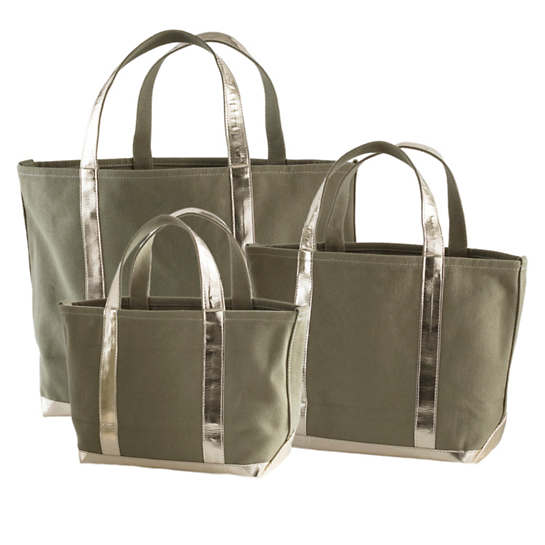 Mod Canvas Olive/Gold Tote Bag