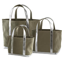 Mod Canvas Olive/Silver Tote Bag