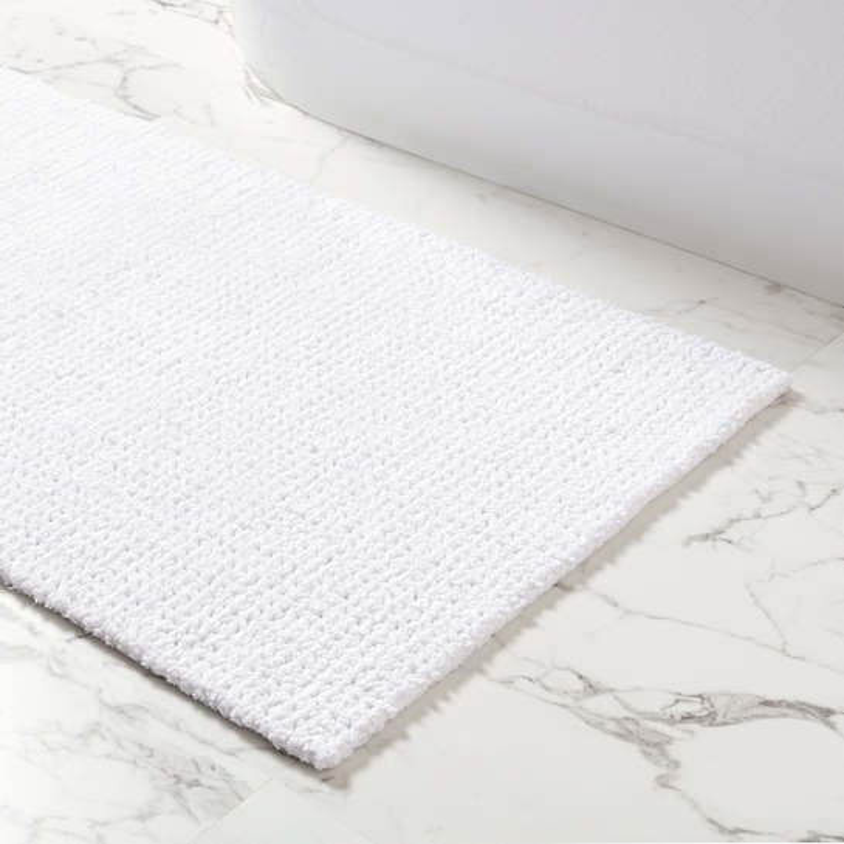 Modesto White Bath Rug