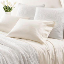 Monarch Sateen Ivory Fitted Sheet