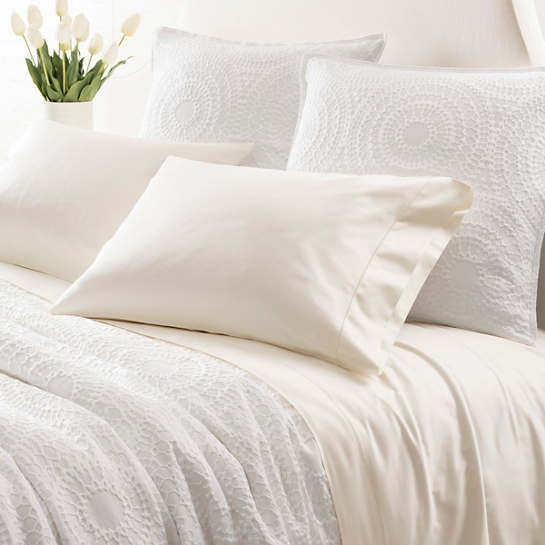 Monarch Sateen Ivory Flat Sheet