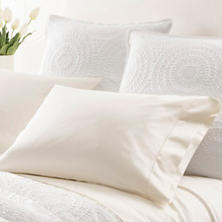 Monarch Sateen Ivory Pillowcases