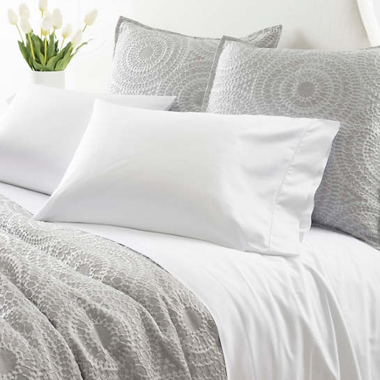 Monarch Sateen White Fitted Sheet