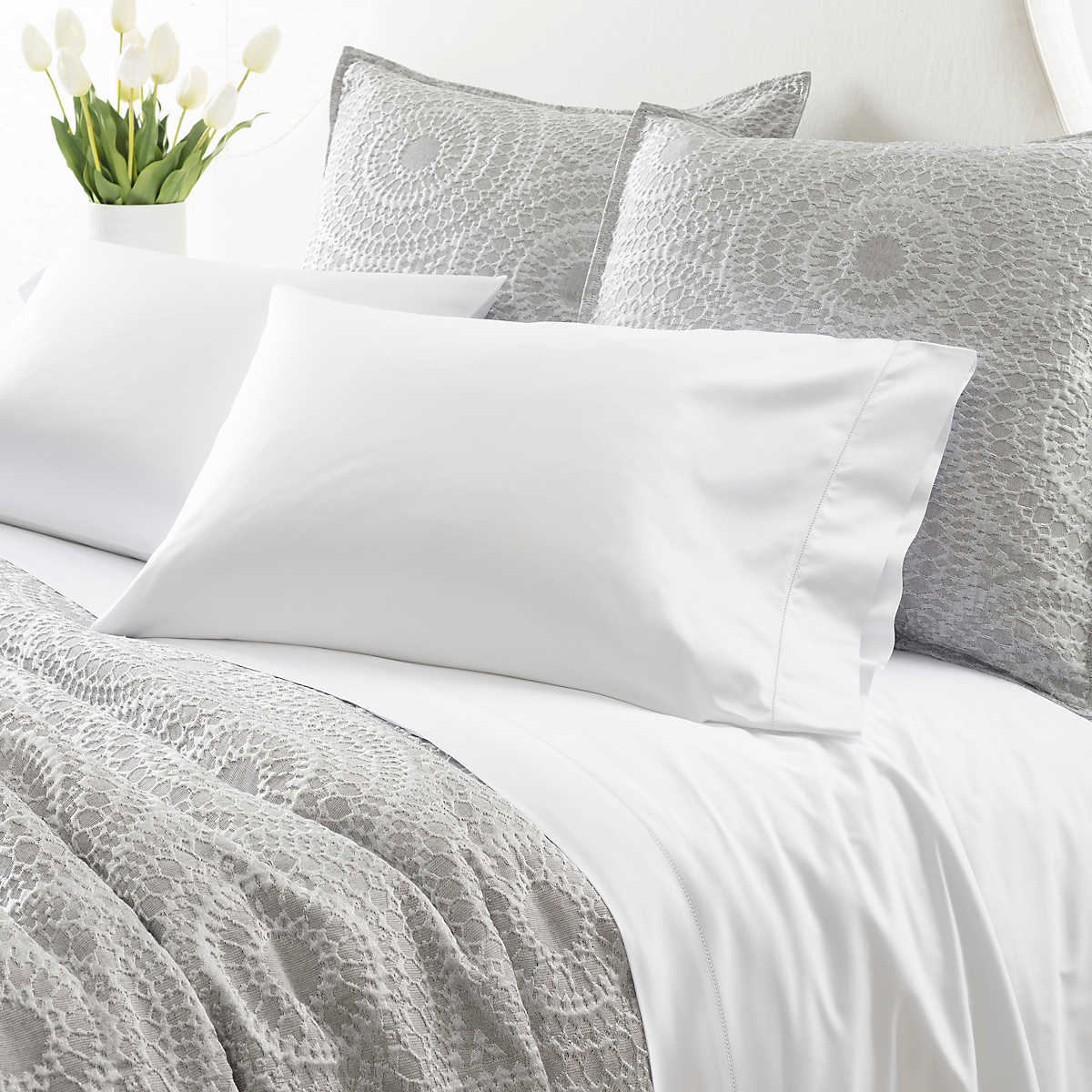 8fb4a2d022b5 Monarch Sateen White Flat Sheet | Luxe
