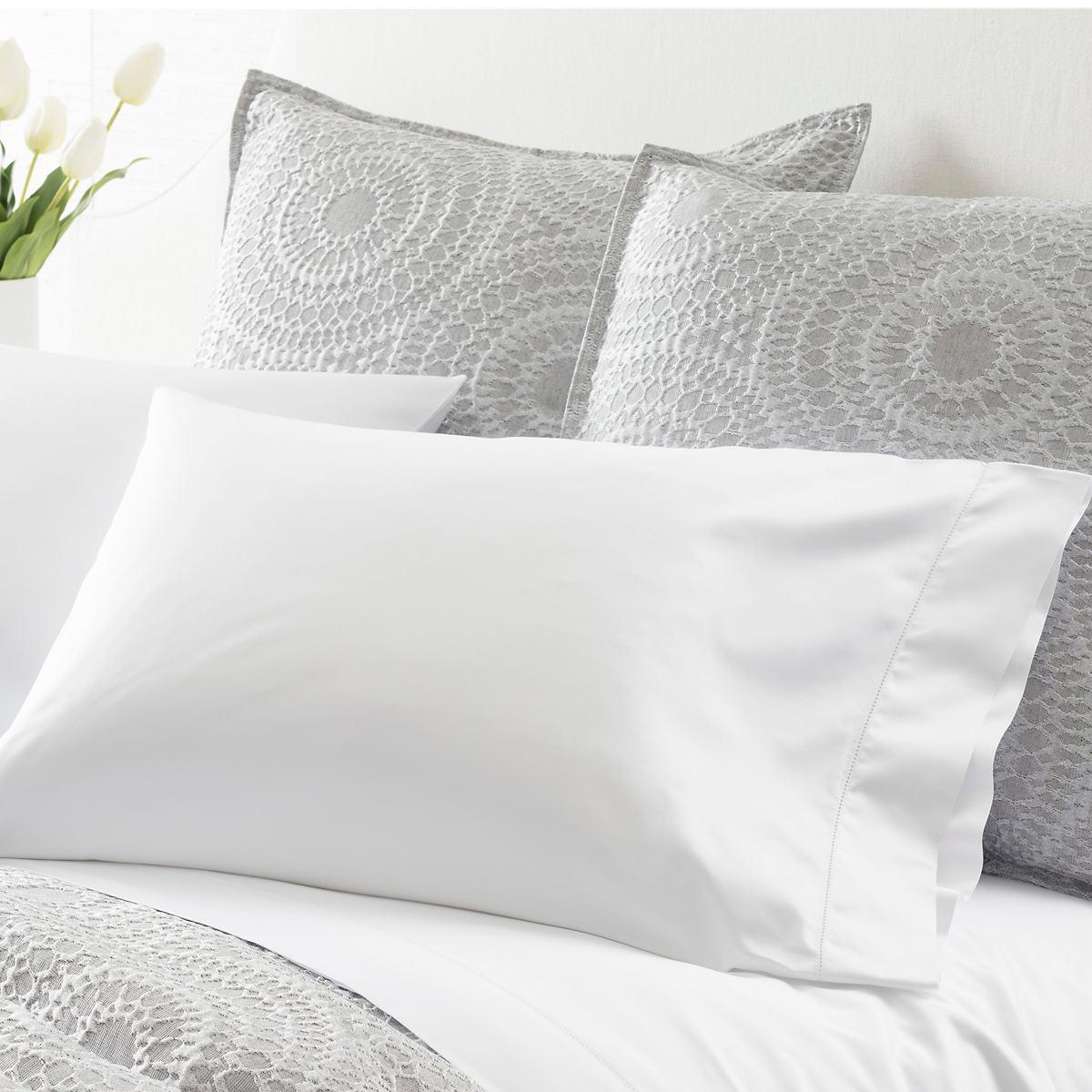 Monarch Sateen White Pillowcases