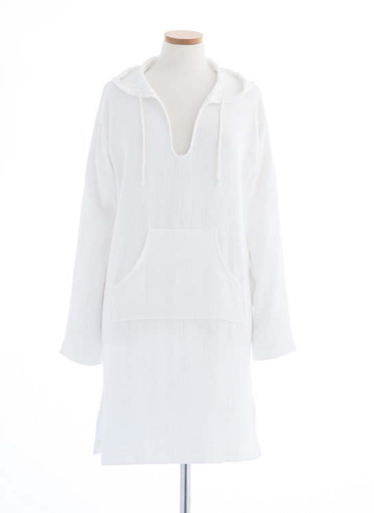 Montauk White Hooded Tunic