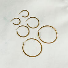 Moon Hoop Earrings Collection/Set Of 3