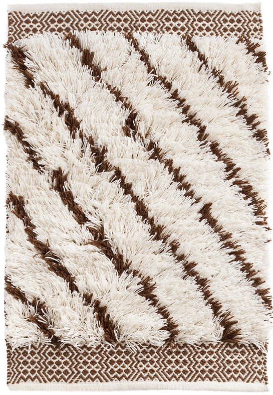 Moroccan Lines Brown Indoor/Outdoor Rug