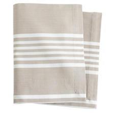 Bistro Stripe Platinum Napkin