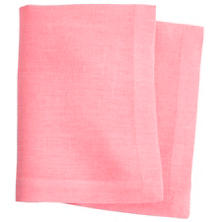 Stone Washed Linen Coral Napkin Set
