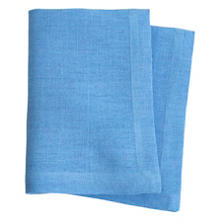 Stone Washed Linen French Blue Napkin Set
