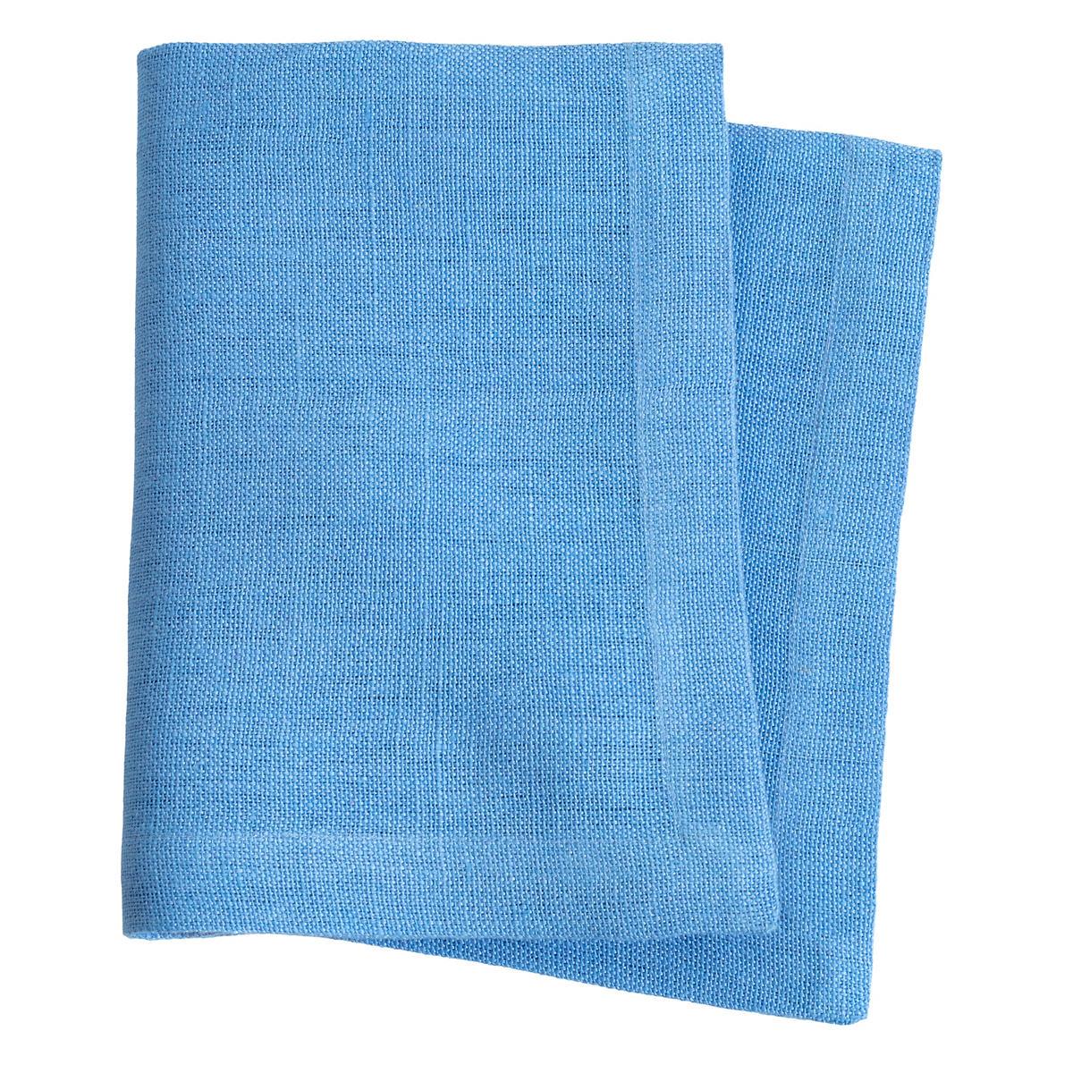 Stone Washed Linen French Blue Napkin Set Of 4
