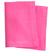 Stone Washed Linen Fuchsia Napkin Set