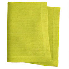 Stone Washed Linen Green Napkin Set