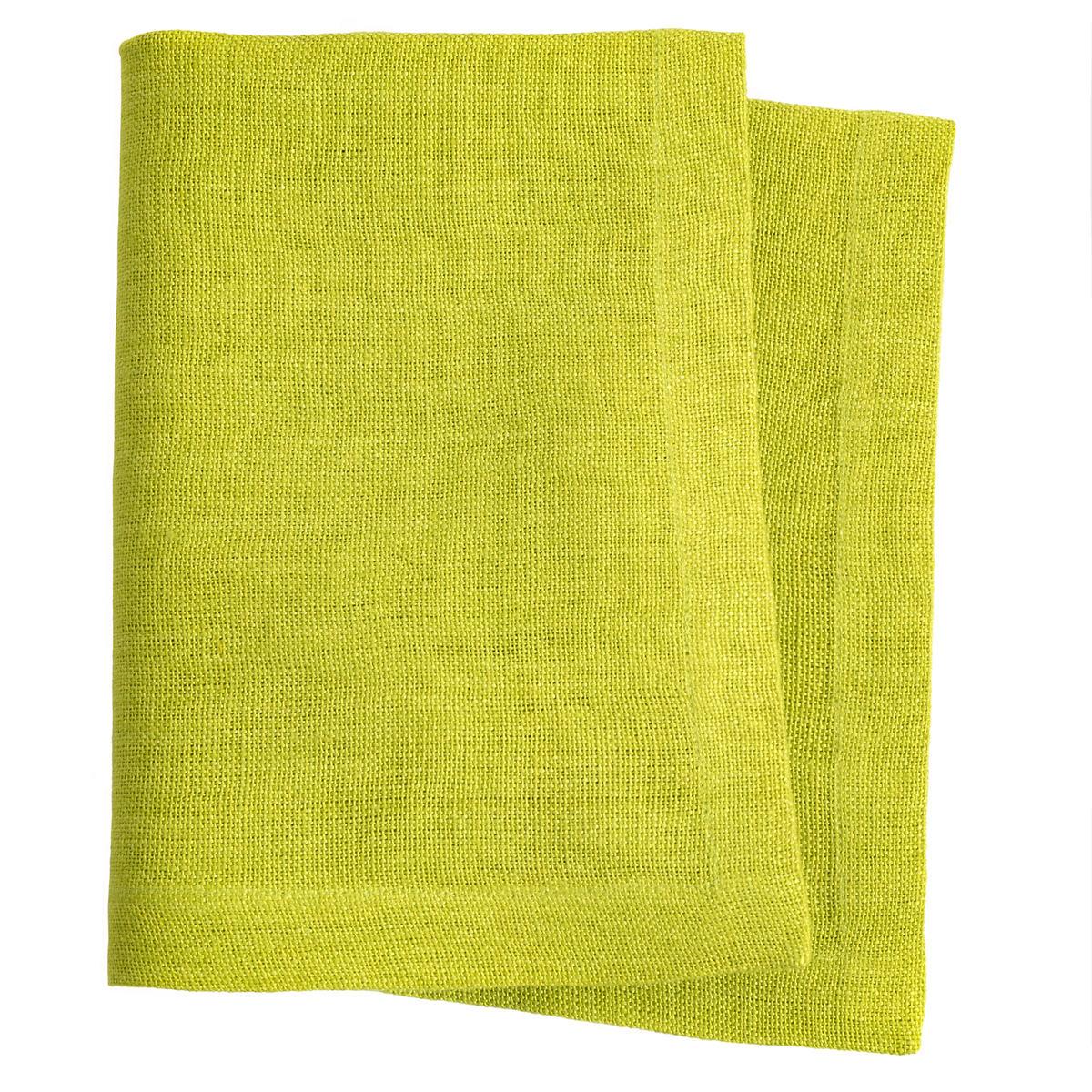 Stone Washed Linen Green Napkin Set