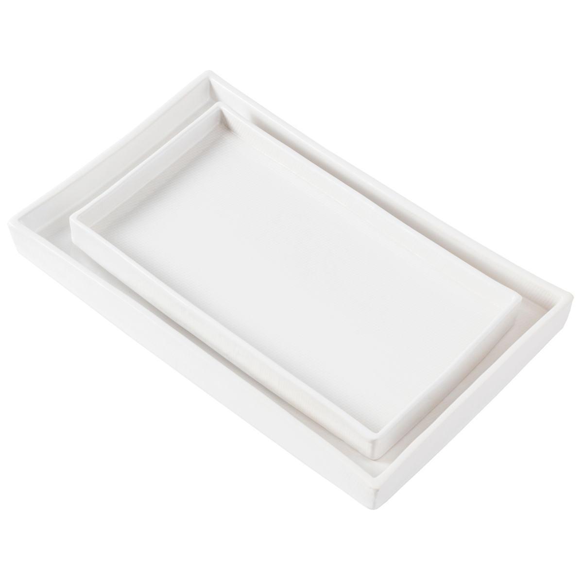 Cordoba White Burlap Nested Trays