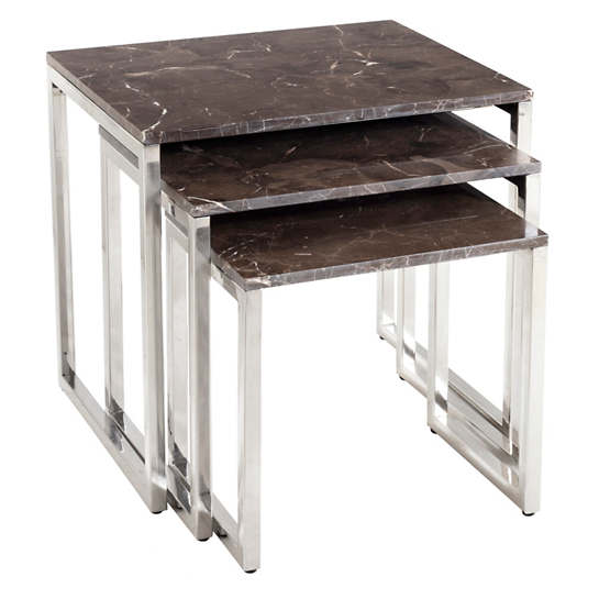 Trilogy Marble Nesting Tables/Set Of 3