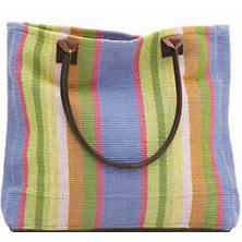 Nantucket Woven Cotton Tote Bag