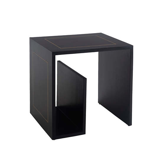 Nash Inlay Magazine  Side Table