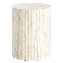 Natural Bone Inlay Stool