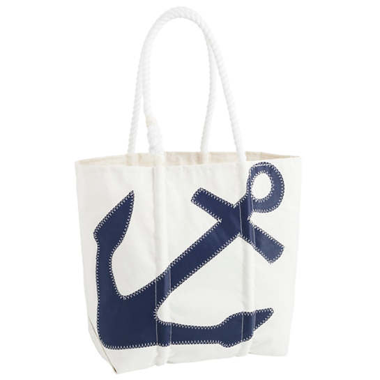 Navy Anchor Tote