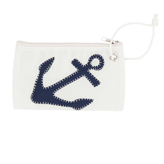Navy Anchor Wristlet