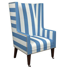 Alex French Blue Neo-Wing Chair
